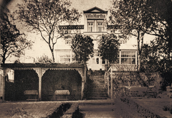Shady garden spaces invited you to stay, 1920s, © City Archives and City Library Sassnitz