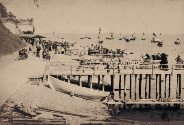 Starting point of the popular boat trips, 1887, © City Archives and City Library Sassnitz