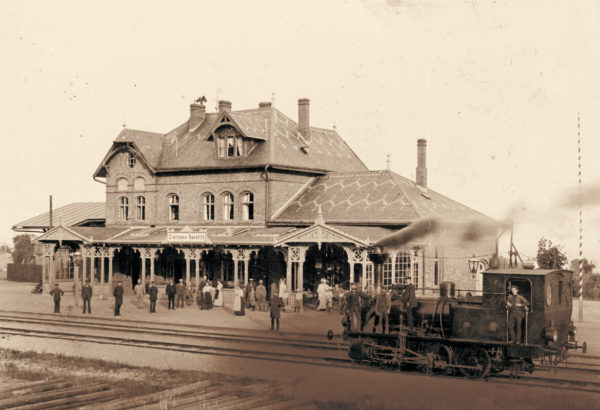 "The train station ""Crampass-Sassnitz"", ca. 1900, © City Archives and City Library Sassnitz"