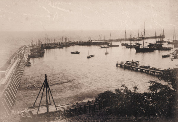The beginning of the construction works, ca. 1890, © City Archives and City Library Sassnitz