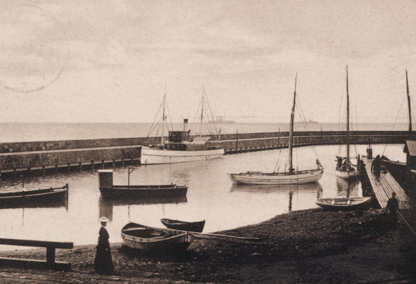 The beginnings of the sheltered harbour, ca. 1919, © City Archives and City Library Sassnitz