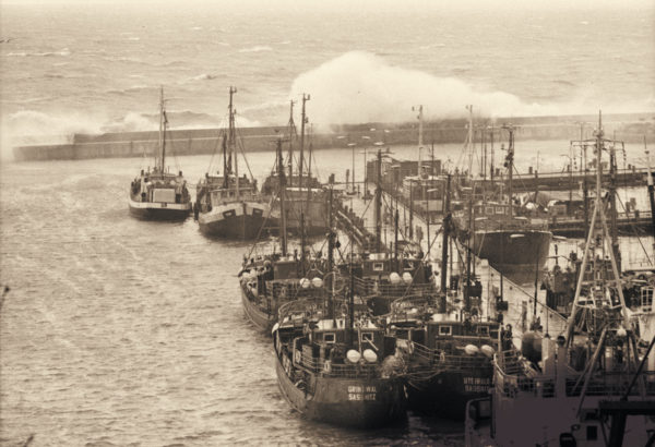 Stormy day at the port, 1972, © City Archives and City Library Sassnitz
