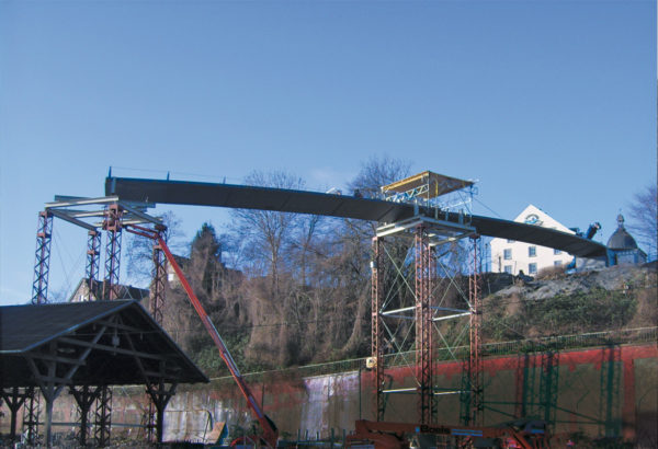 The bridge during construction, 2007, © City Archives and City Library Sassnitz