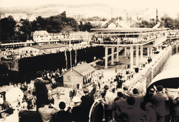 Opening of the glass station, 1959, © City Archives and City Library Sassnitz