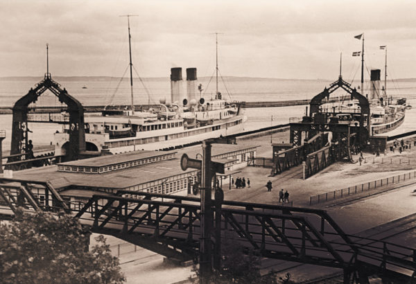 View of the two ferry docks, um 1935, © City Archives and City Library Sassnitz